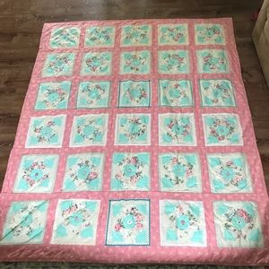 Other - Hand made Girls Quilt 67 By 80 1/2 inches. Pink